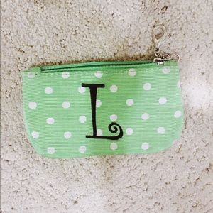 "Accessories - ""L"" Initial Women's Green Card-Holder 諾"